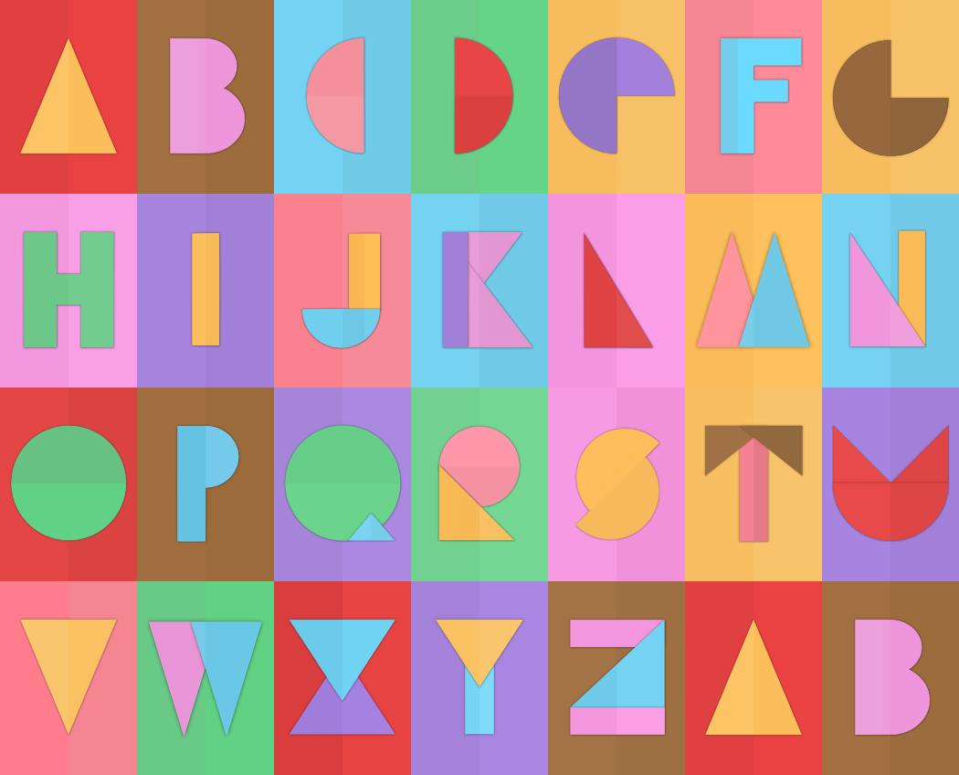 Geometric Alphabet Freebie